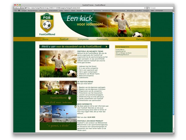 Website FootGolfBond