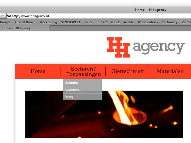 Vergroting website HH Agency