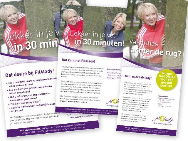 Voorbeeld advertenties Fit4lady